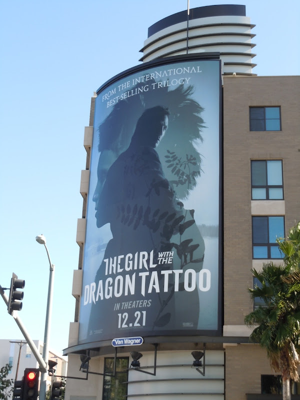 Giant Girl with the Dragon Tattoo billboard