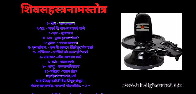 शिवजी के नाम के अर्थ बताओ, शिवजी के नाम कितने हैं,  शिवजी के नाम की लिस्ट, शिवसहस्त्रनामस्तोत्र, महादेव के नाम के अर्थ, mahadev ke name ke arth bataiy