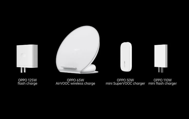 OPPO Unveils 125W Flash Charge, 65W AirVOOC Flash Wireless Charge, and 50W Mini SuperVOOC Charger
