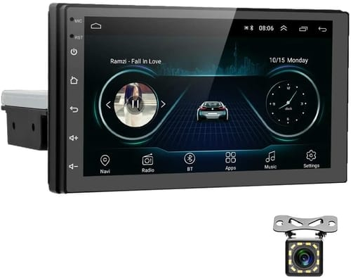 AMPrime Android 9.0 Single Din Car Stereo with Bluetooth