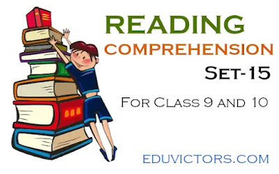 English Reading Comprehension (Set-15) - for Class 9 and 10 (#readingcomprehension)(#eduvictors)(#class10English)