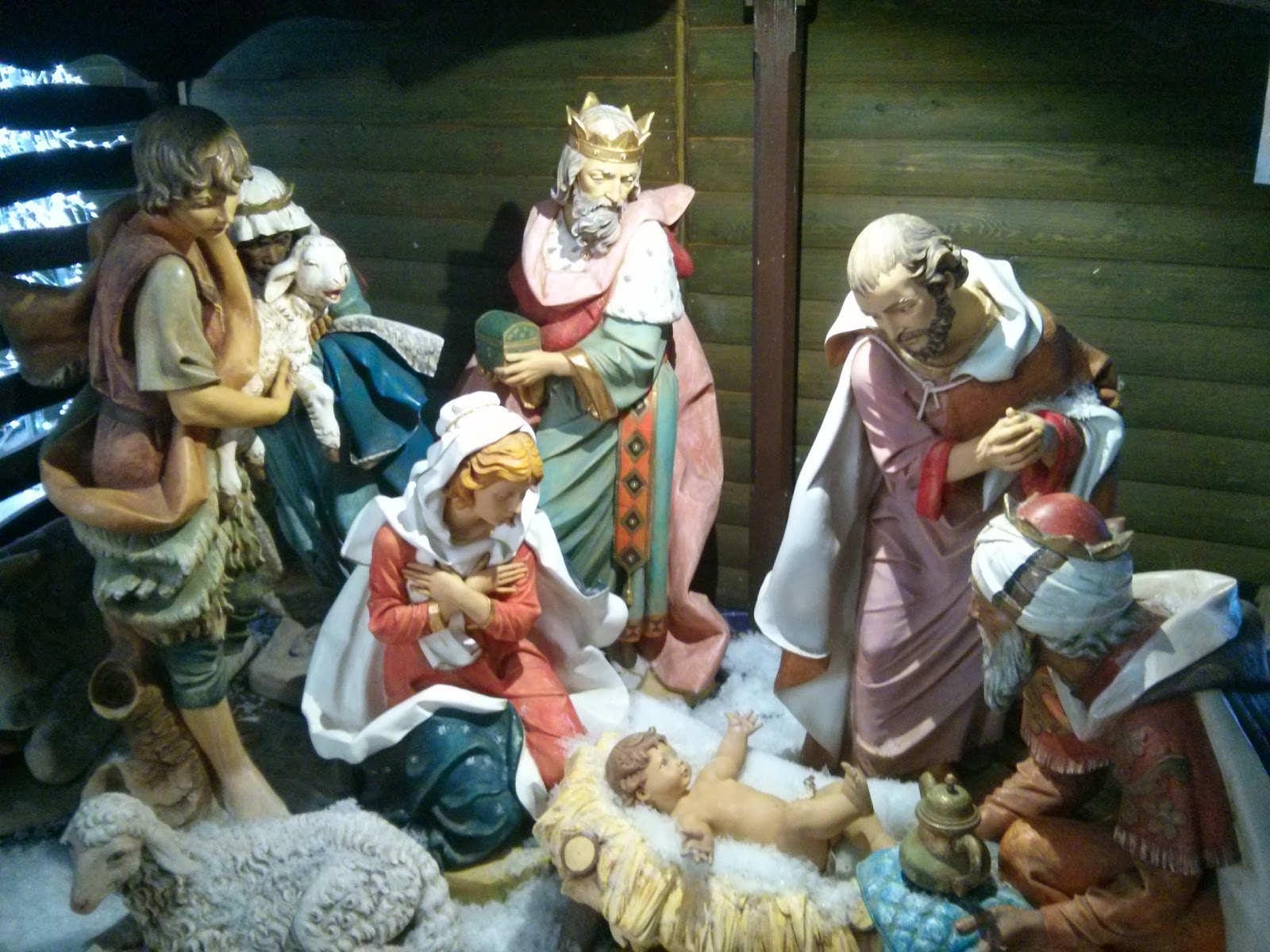 The Nativity Scene from the Shopping Centre Christmas Display