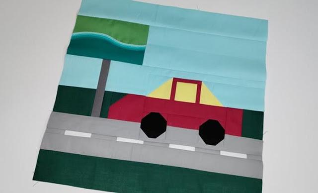 Road trip quilt block