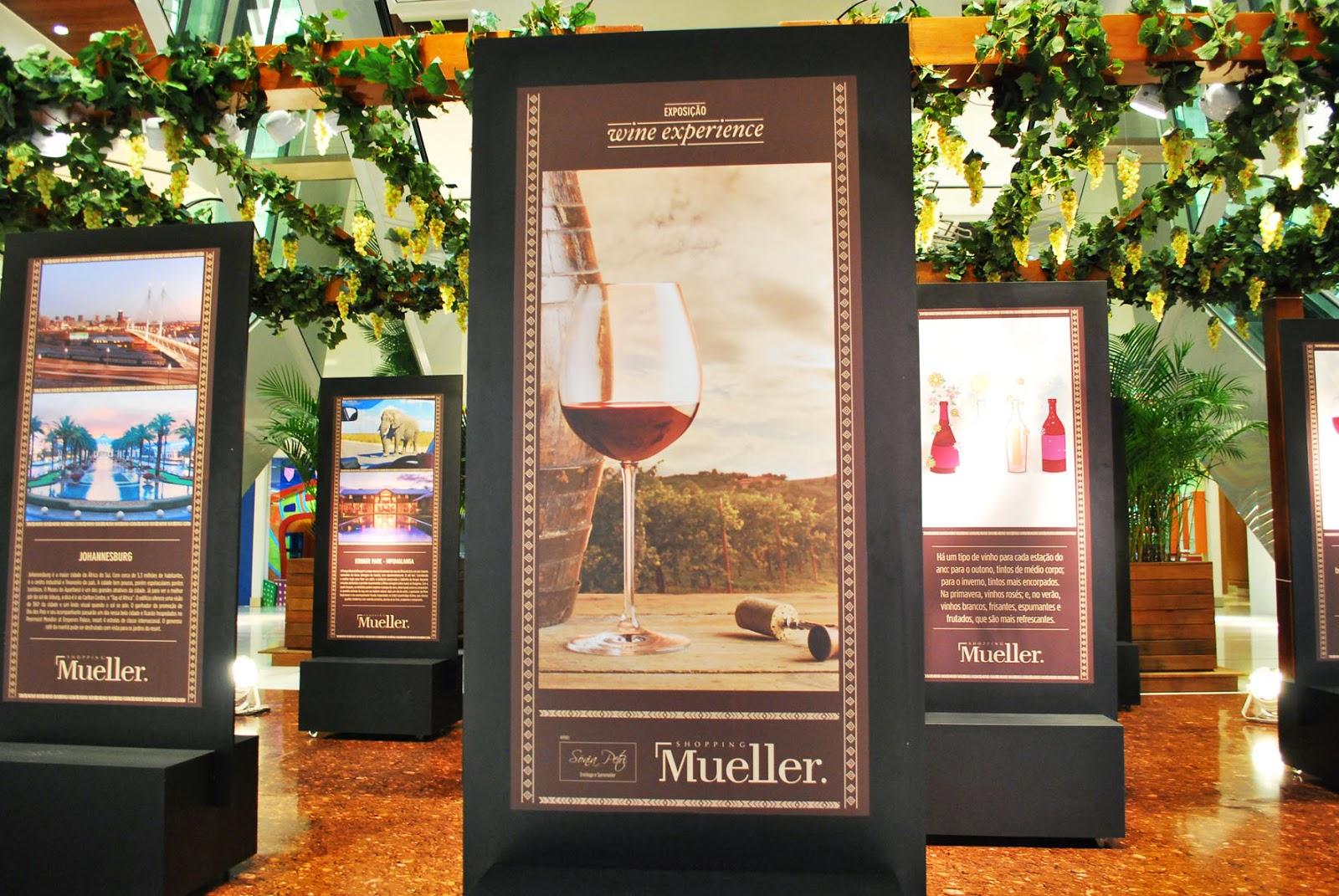 """c13ff77d5 O Shopping Mueller está promovendo a exposição """"Wine Experience"""""""