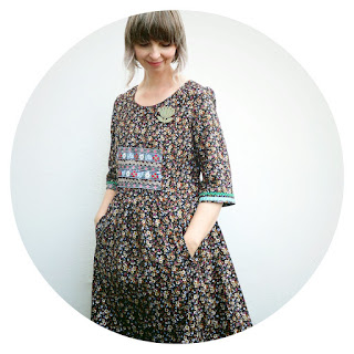 Liesl Cinema Dress in folksy corduroy by Ivy Arch