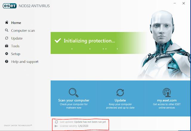 eset nod32 antivirus keys valid 2020