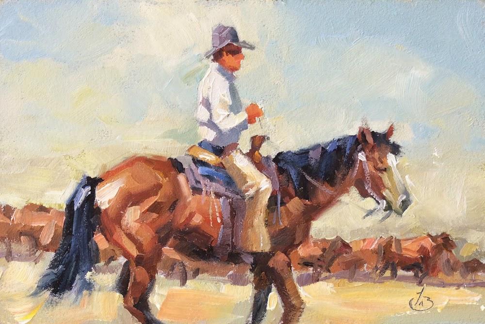 Tom Brown Fine Art Cowboy Horse Cattle Western Art By