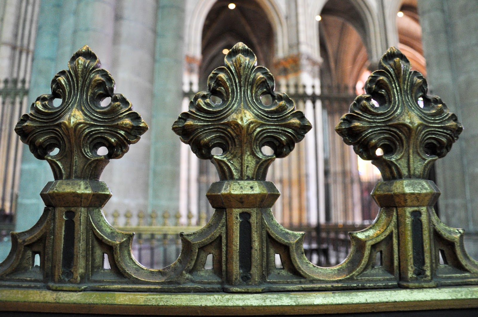 Close-up of a fence, Reims Cathedral, Reims, France