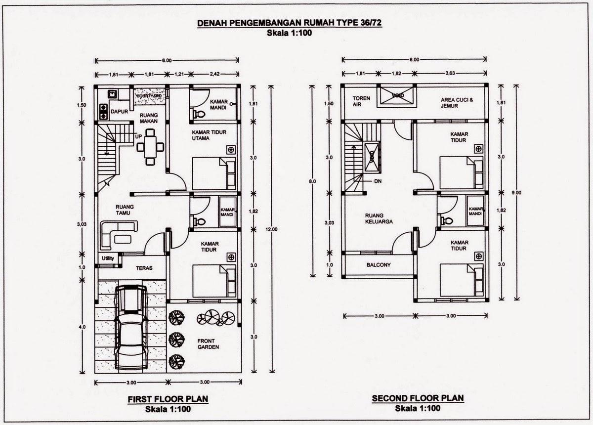 Desain Rumah Minimalis 2 Lantai Tipe 72 Gambar Foto Desain Rumah