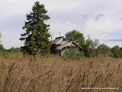 Carelie, Zaonezhie, chapelle en bois, eglise en bois,