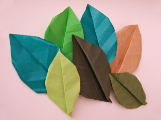 origami leaves