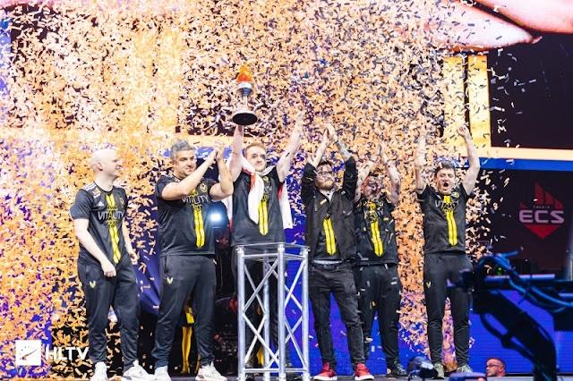 賞金総額50万ドル「ECS Season 7 Finals」にて「Vitality」が「FURIA」に勝利し優勝、MVPは平均Rating 1.41を獲得したZywOoが受賞
