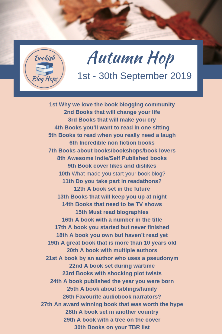 Bookish Blog Hops Autumn 2019 Hop
