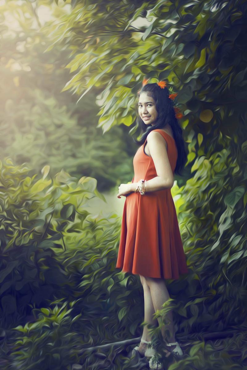 Hunting Foto Model Viona Utami  bokeh