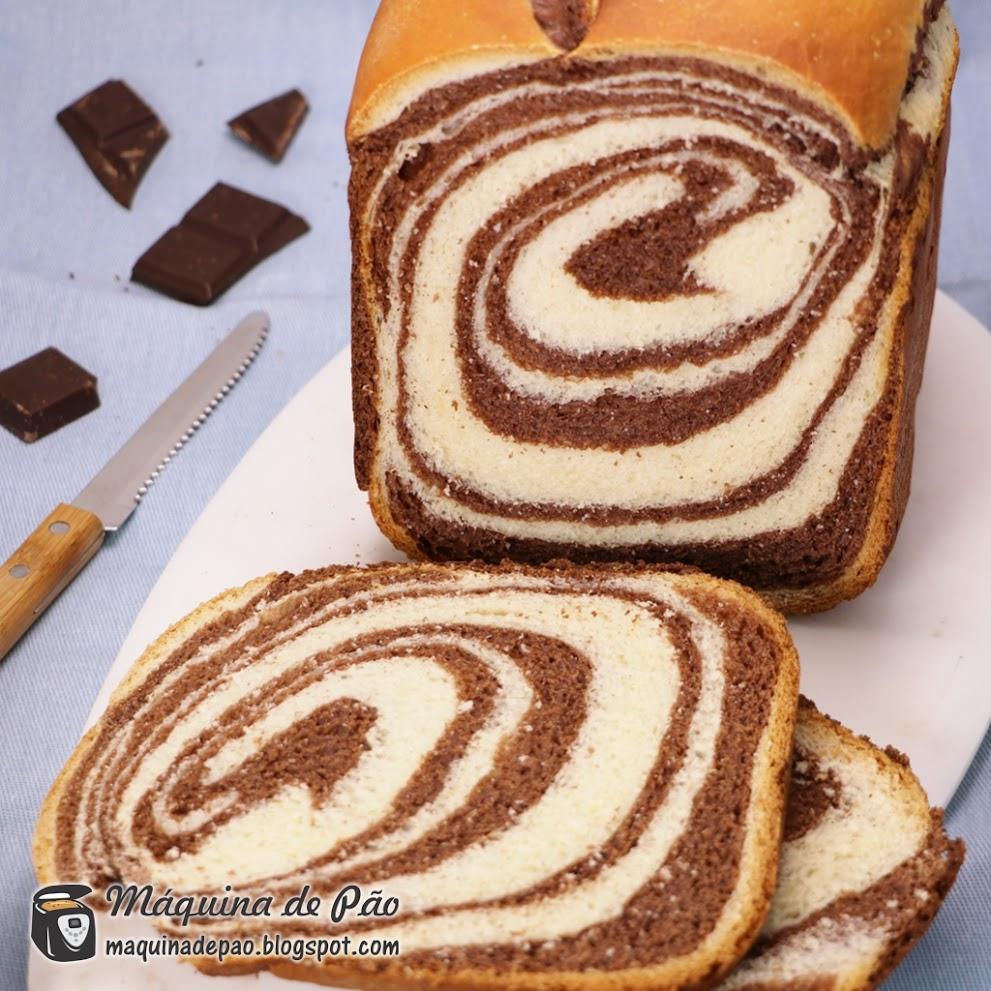 Pão Marmorizado de Chocolate