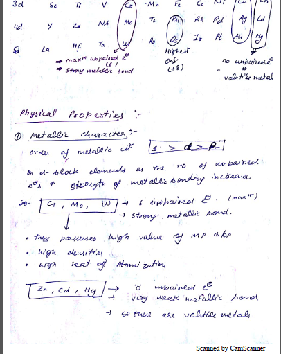 Chemistry Chapterwise Notes (D and F Bolck) : For JEE and NEET Exam PDF Book