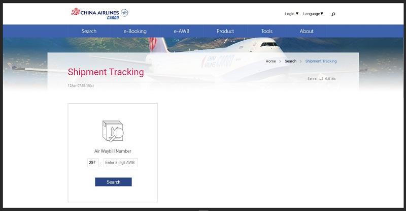 pelacakan paket china airlines cargo