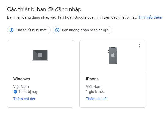 Cách kiểm tra gmail đã đăng nhập gần đây