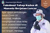 Vaksinasi Tahap Kedua di Kota Manado Berjalan Lancar. Walikota Ingatkan Tetap Jalankan Prokes
