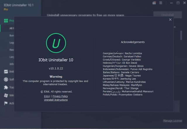 IObit Uninstaller Pro10.1.0.22