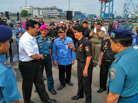 Pelepasan Kader Bela Negara di JICT Pelabuhan Tj.Priok oleh Menko Maritim