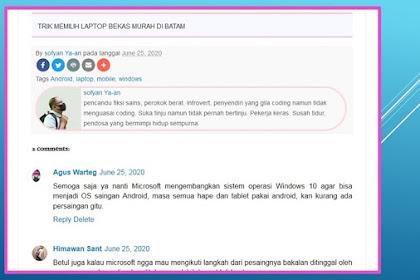 Cara kustomisasi photo profile di Blogspot