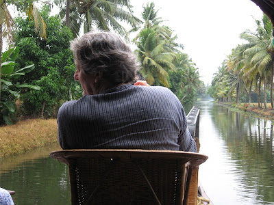 Me on a kettuvallam in Kerala