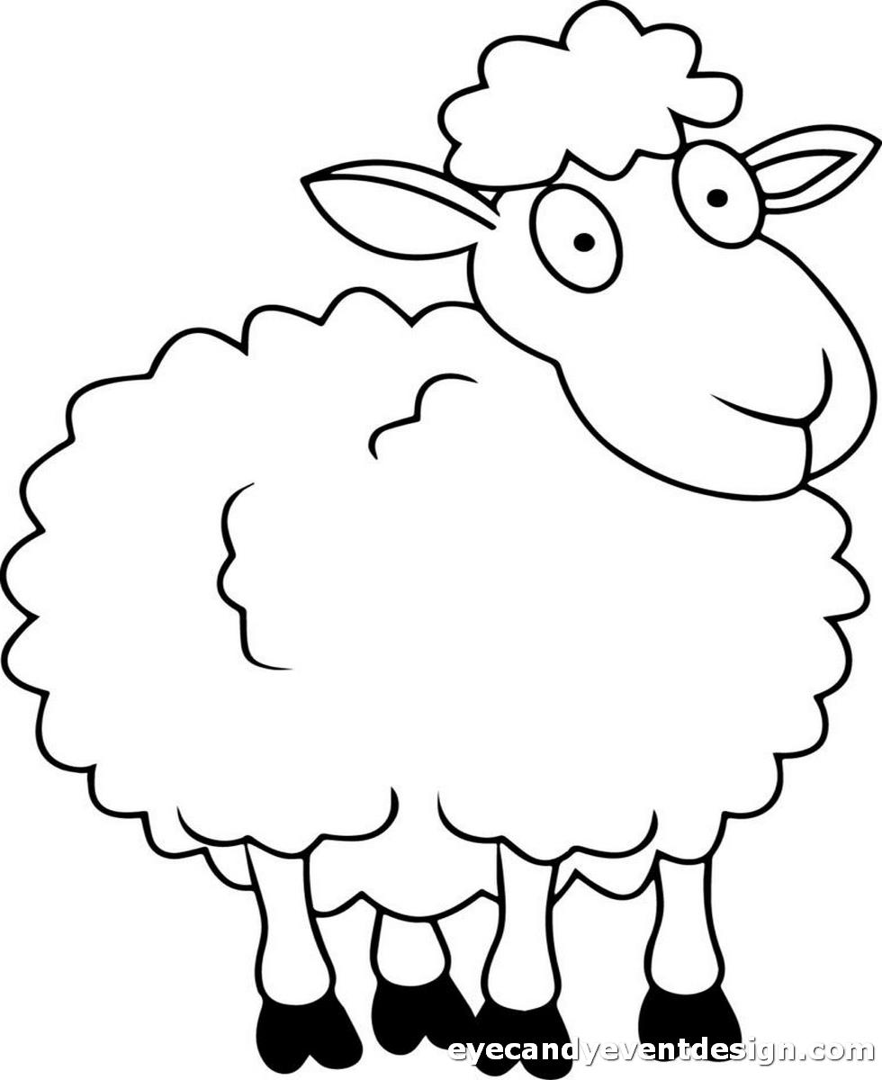 Schaf Ausmalen
