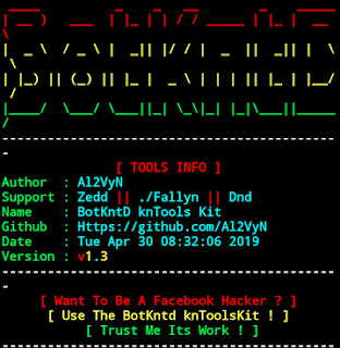 BotKntD - Hacking Facebook Toolkit