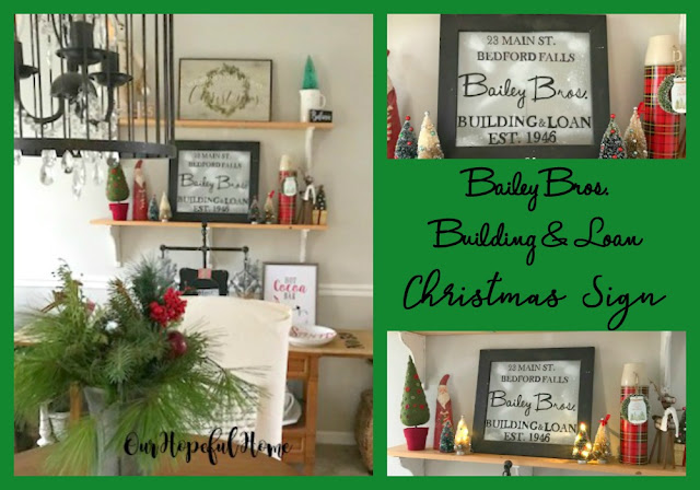 DIY Christmas sign farmhouse dining room decor