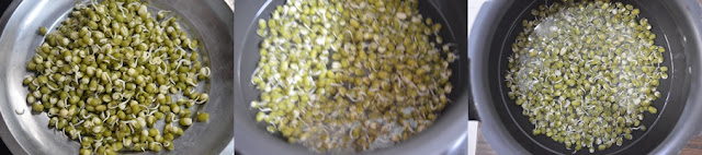 Step 1 - Green Gram Sprouts Sundal Recipe