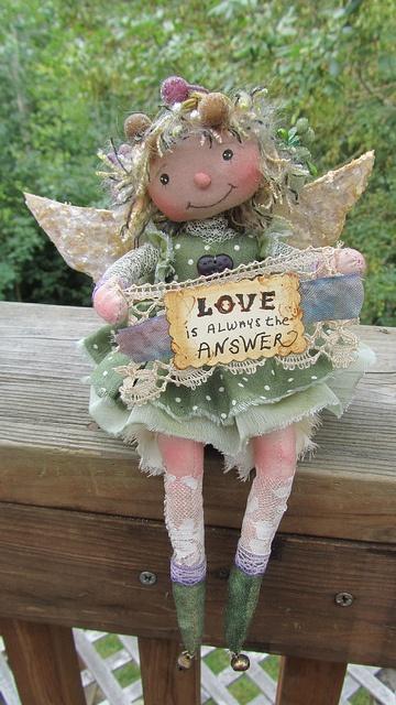 wiosenny aniolek szmaciany