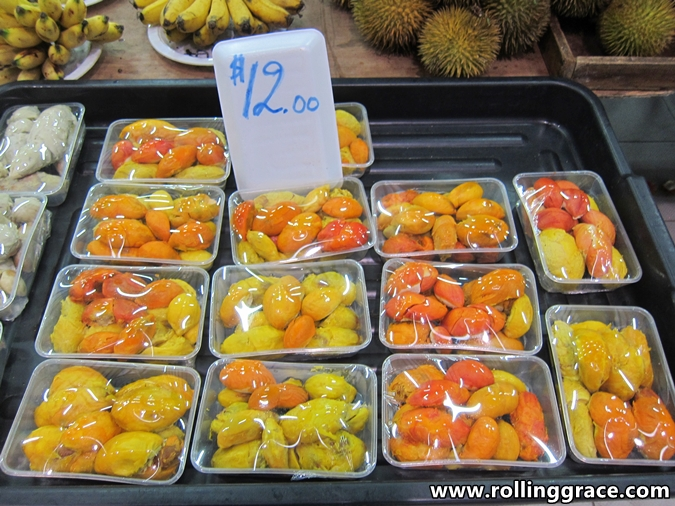 red durian in brunei