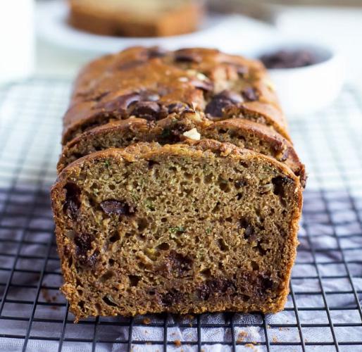 Chocolate Chip Zucchini Bread  #dessert #cakes #zucchini #chocolate #recipes