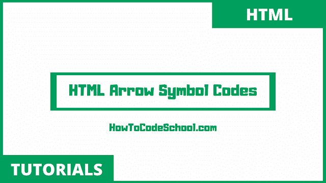 HTML Arrow Symbols Character Codes