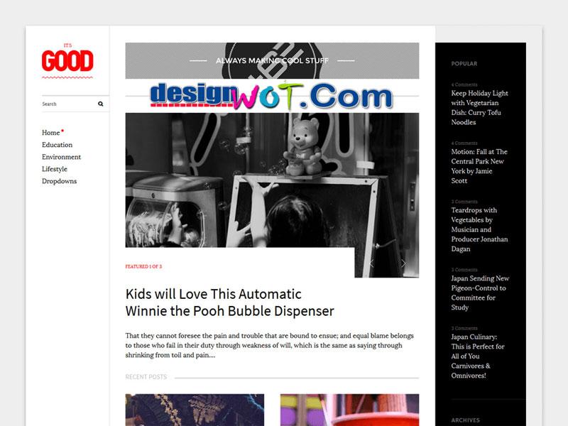 Good Magazine WordPress Theme