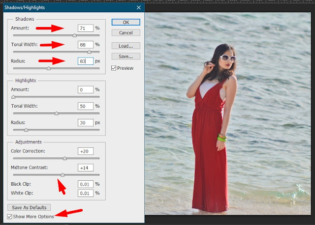mencerahkan foto gelap shadow/highligt photoshop