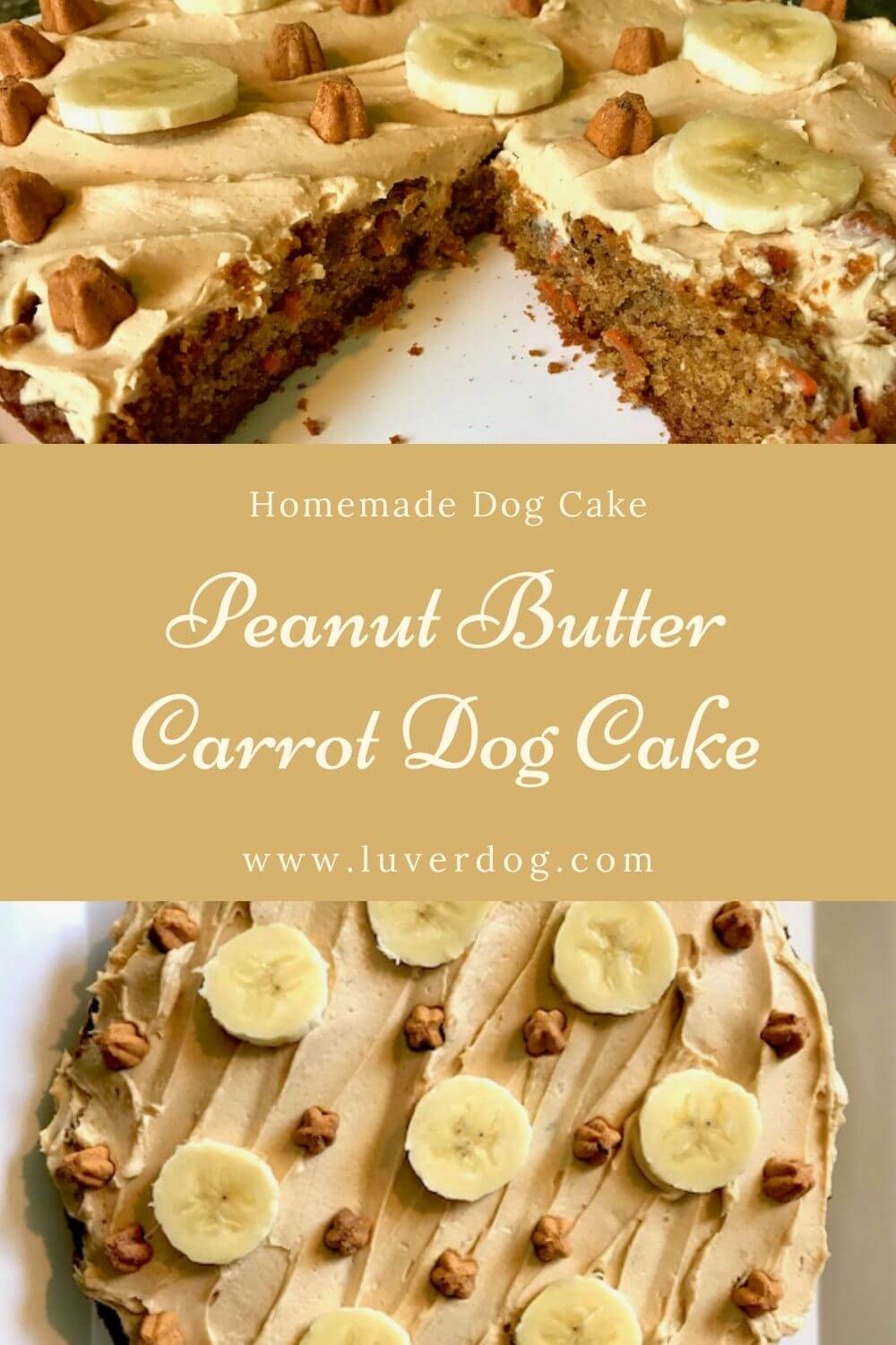 Peanut Butter and Carrot Dog Cake