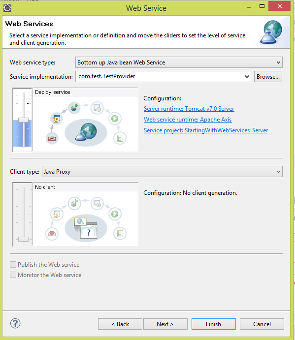 How to create webservice client using wsdl in eclipse kepler