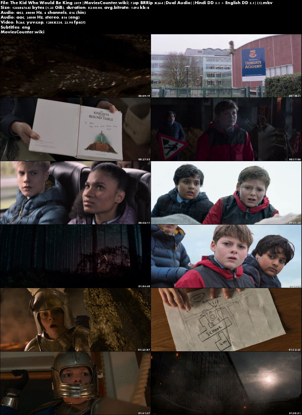 Screen Shots The Kid Who Would Be King 2019 Dual Audio HD 720p