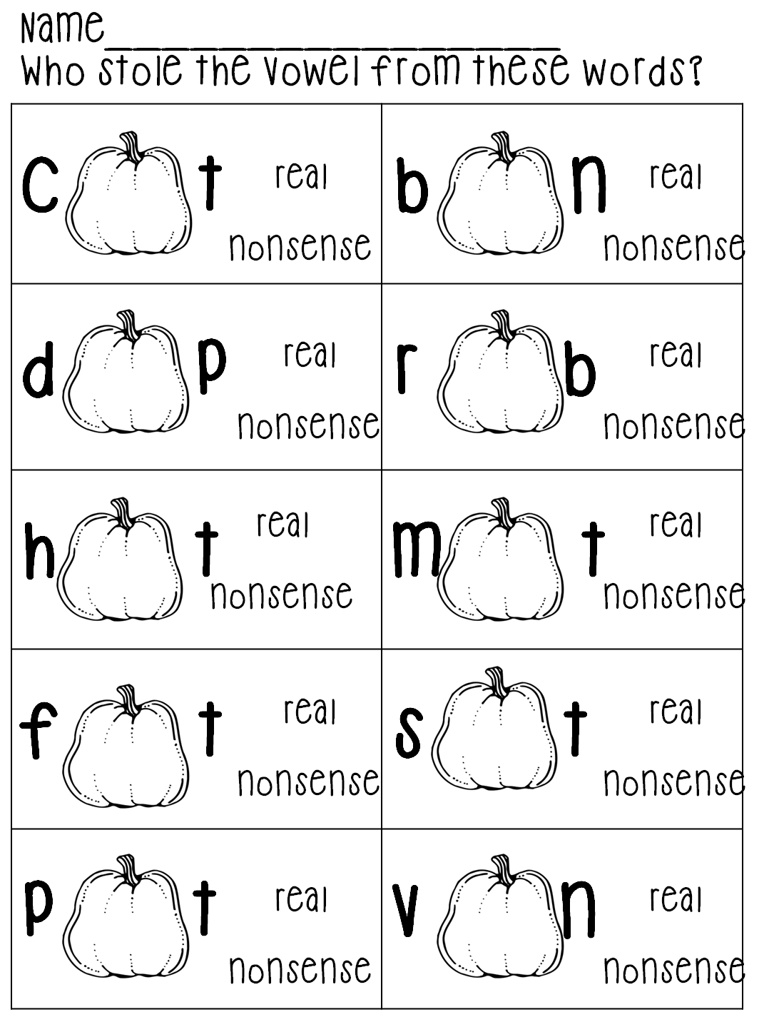 Short Vowel Mixed Review Worksheet