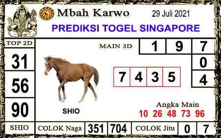 Prediksi Jitu Mbah Karwo SGP45 Kamis 29-7-2021