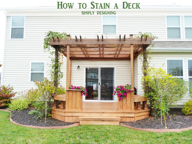 How To Stain A Deck And Pergola