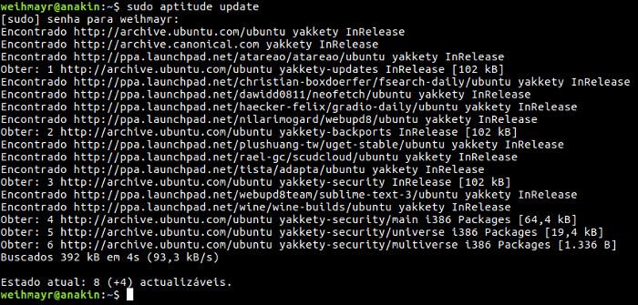 lista dos repositórios do linux