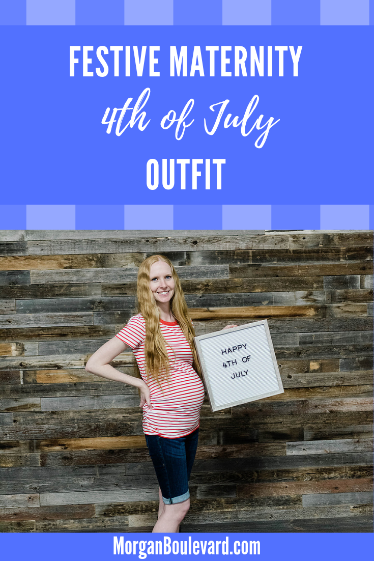 maternity 4th of july outfit