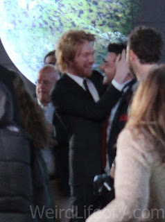 Domhnall Gleeson and Oscar Isaac - Star Wars: The Force Awakens premiere