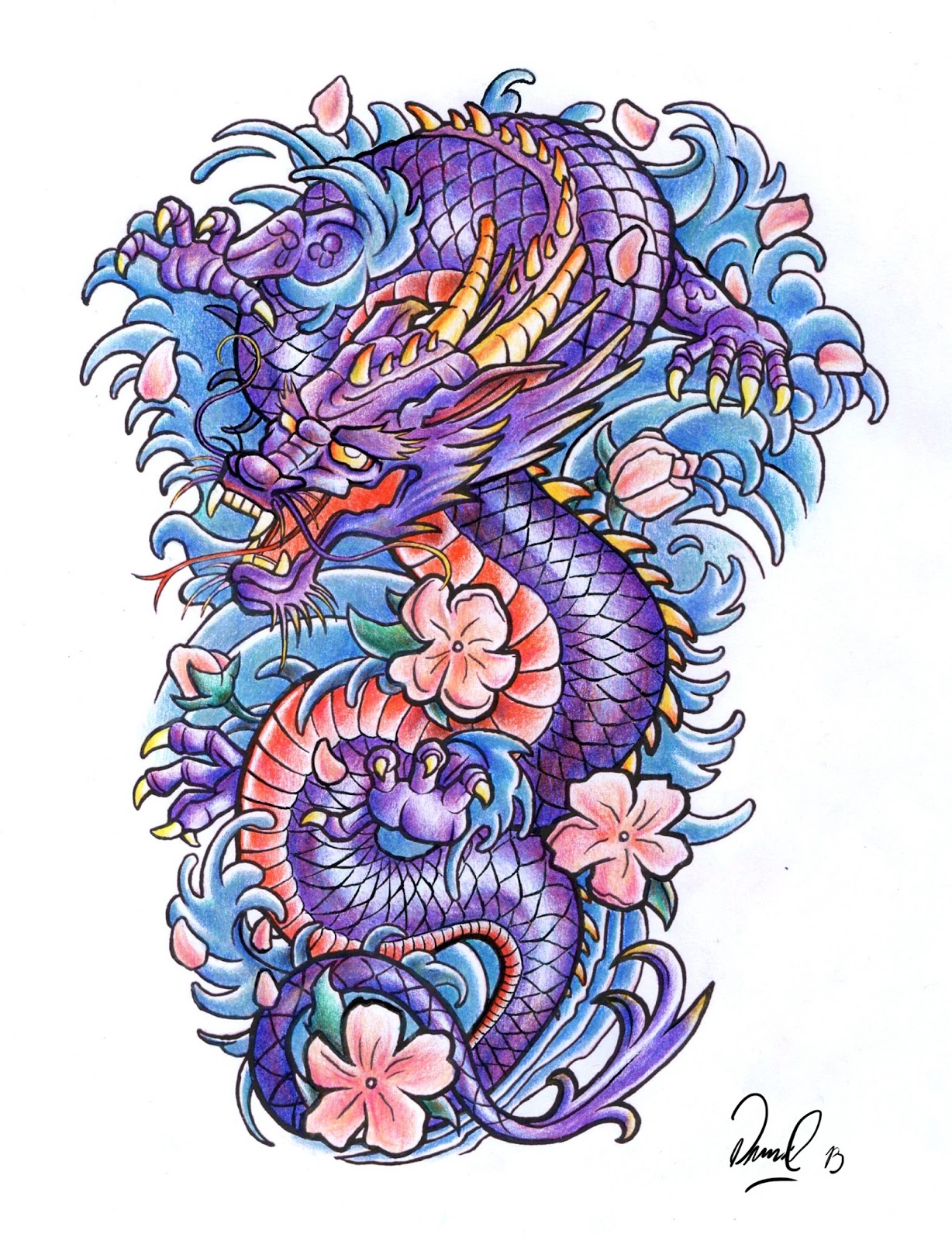 Japanese Dragon: Art Blog: Dragon Tattoo Design