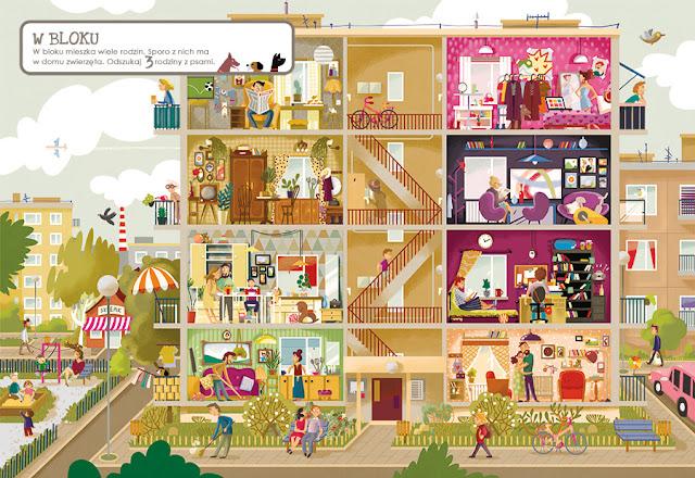 katarzyna urbaniak ilustracje wilga zagubione zwierzaki miasto zagubionych rzeczy w bloku blok