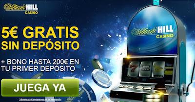 bono de bienvenida gratis para jugar tragaperras online en el casino william hill