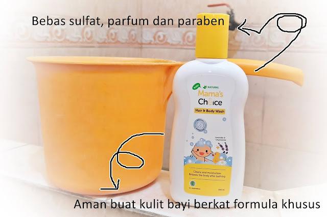 Mama's Choice Baby Hair and Body Wash, Sabun Untuk Kulit Bayi Sensitif